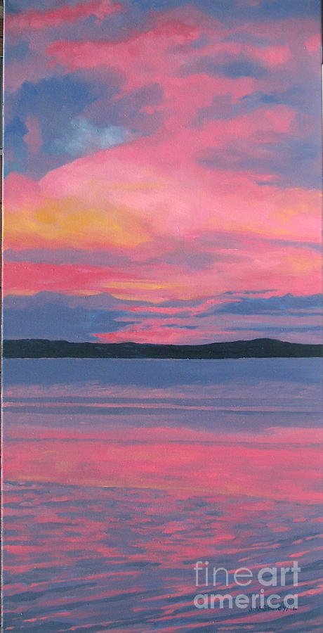 Summer Landscapes Painting - Sunset by Joan McGivney