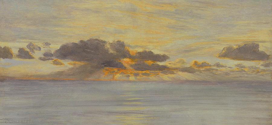 Sun Painting - Sunset by John Brett