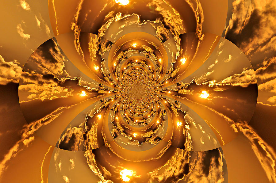 Abstract Photograph - Sunset Kaleidoscope 4 by Marty Koch