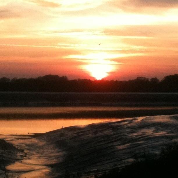 Instagram Photograph - Sunset, Kings Lynn Docks - No Filter by Just Berns