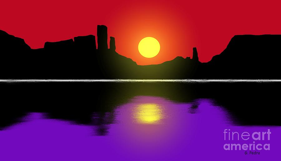 Sunset Painting - Sunset No. 3 by George Pedro