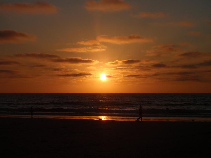 San Diego Photograph - Sunset On A Beach In San Diego Ca by Brittany Roth