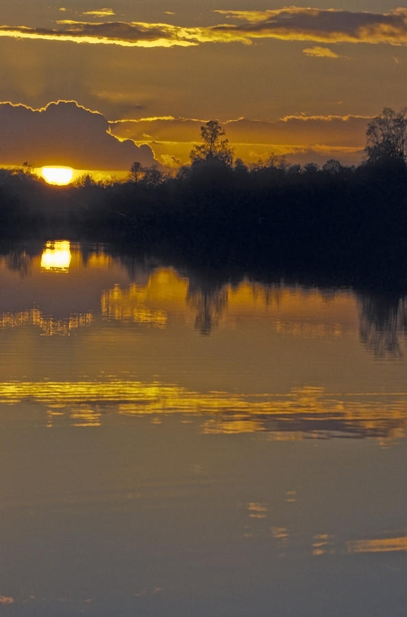 Water Photograph - Sunset On A Lake by Patrick Kessler