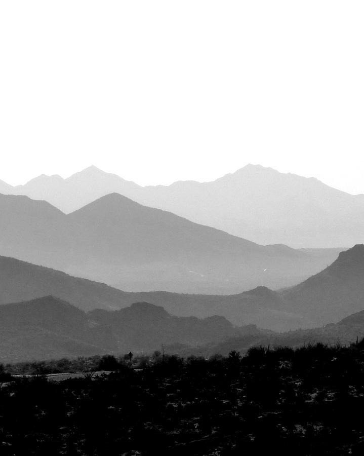 Arizona Photograph - Sunset On Arizona Mountains by Joe Johansson