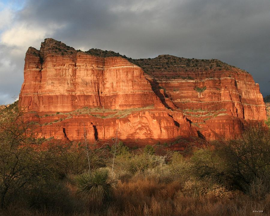 Courthouse Butte Photograph - Sunset On Courthouse Butte by Jimmy Fox