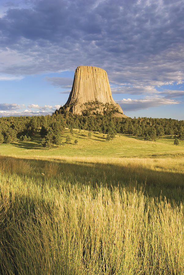 Color Image Photograph - Sunset On Devils Tower Wyoming United by Philippe Widling