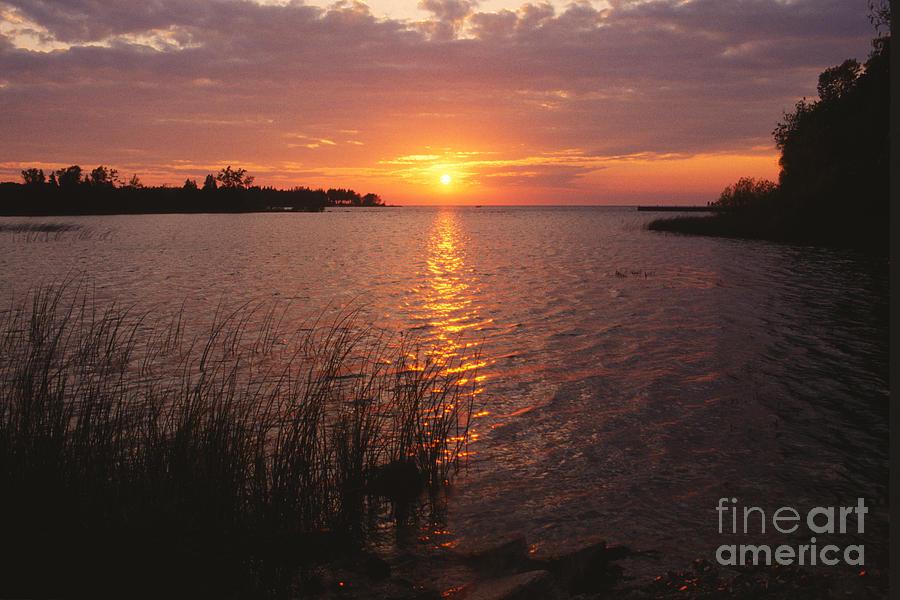 Bronstein Photograph - Sunset On Eagle Harbor by Sandra Bronstein