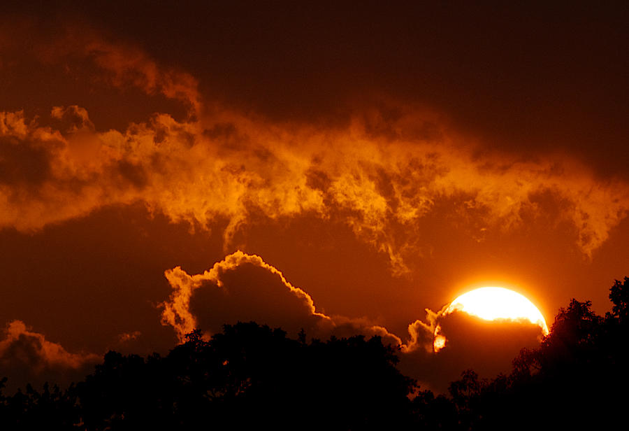 Sunsets Photograph - Sunset On Fire by Kathi Isserman