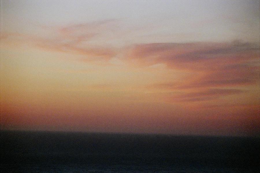 Sunset Photograph - Sunset On Horizon Horizontal At Big Sur by Christina Weber
