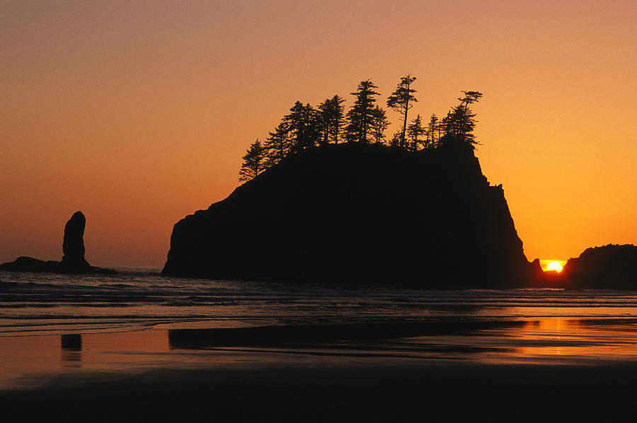 North America Photograph - Sunset On Second Beach by Phil Schermeister