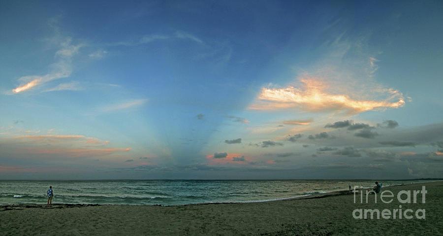 Ocean Photograph - Sunset On The Atlantic Ocean by Richard Nickson