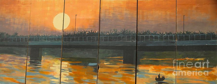 Sunset Photograph - Sunset On The Canals by Unknown - Local Iraqi National