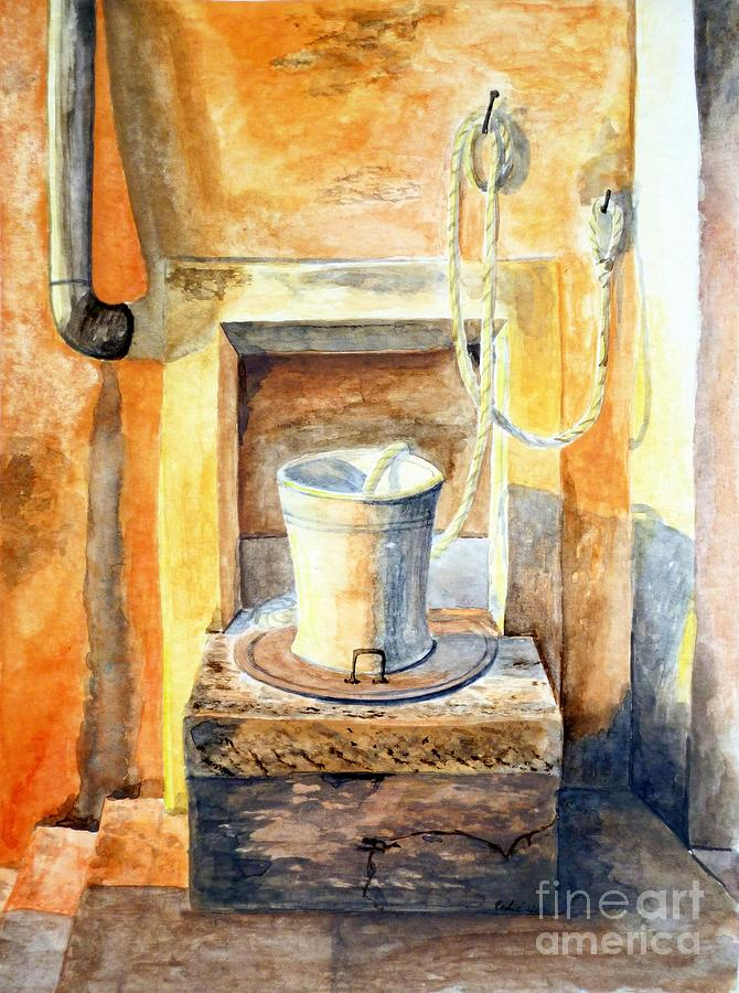Well Painting - Sunset On The Old Well  by Eleonora Perlic
