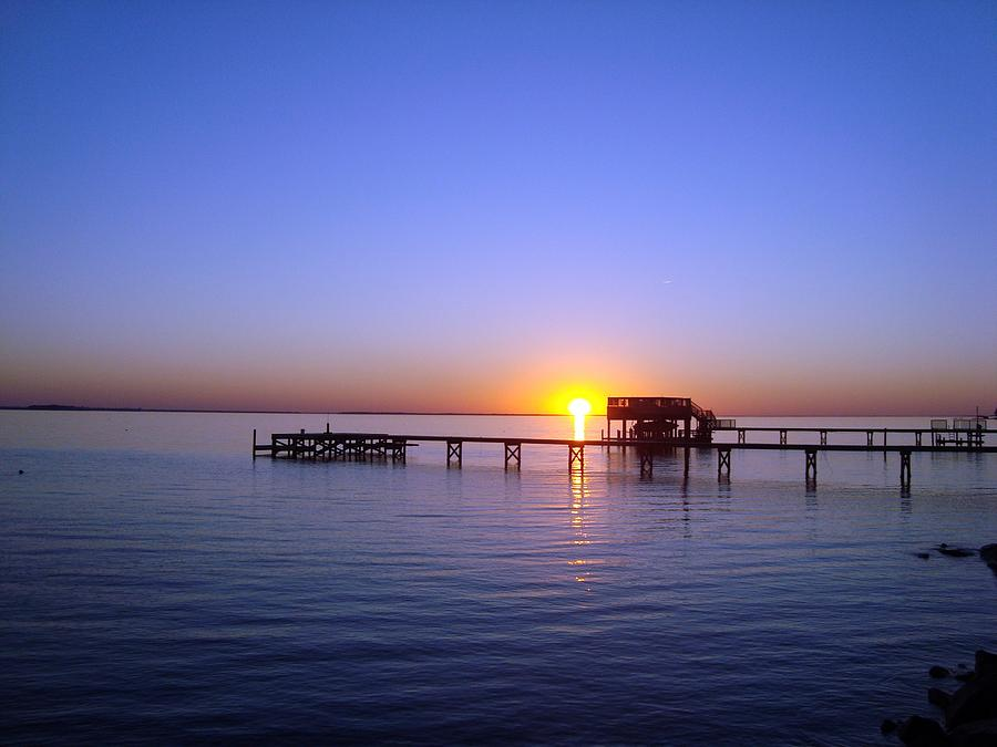 Pamlico Sound Photograph - Sunset On The River by Joan Meyland