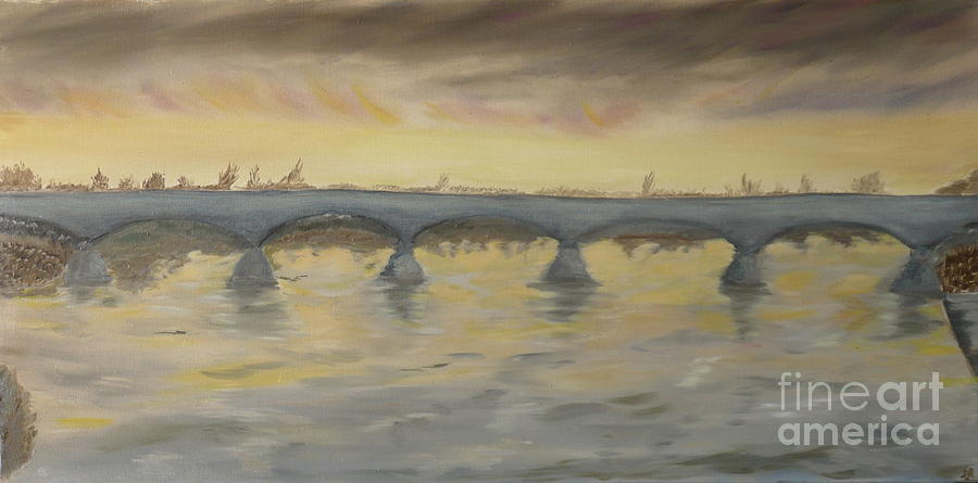 Turner Painting - Sunset On The Ticino - Homage To Turner by Nicla Rossini