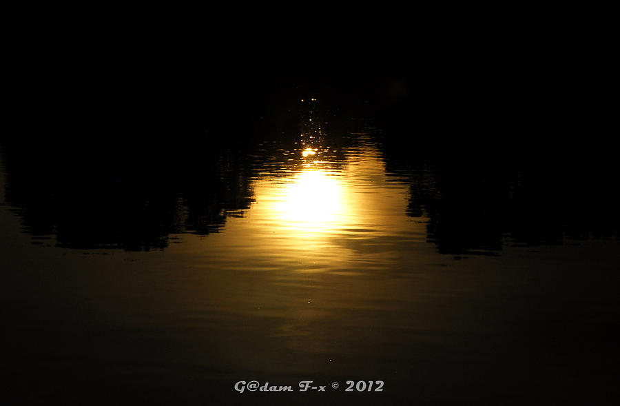 Print Photograph - Sunset On The Water  by G Adam Orosco