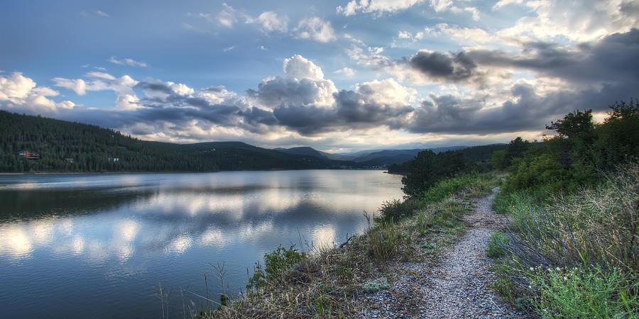 Clouds Photograph - Sunset Over Barker Lake by Noah Katz