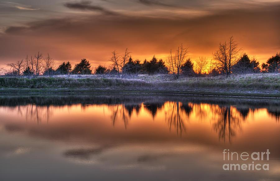 Prairie Sunset Photograph - Sunset Over Bryzn by Art Whitton