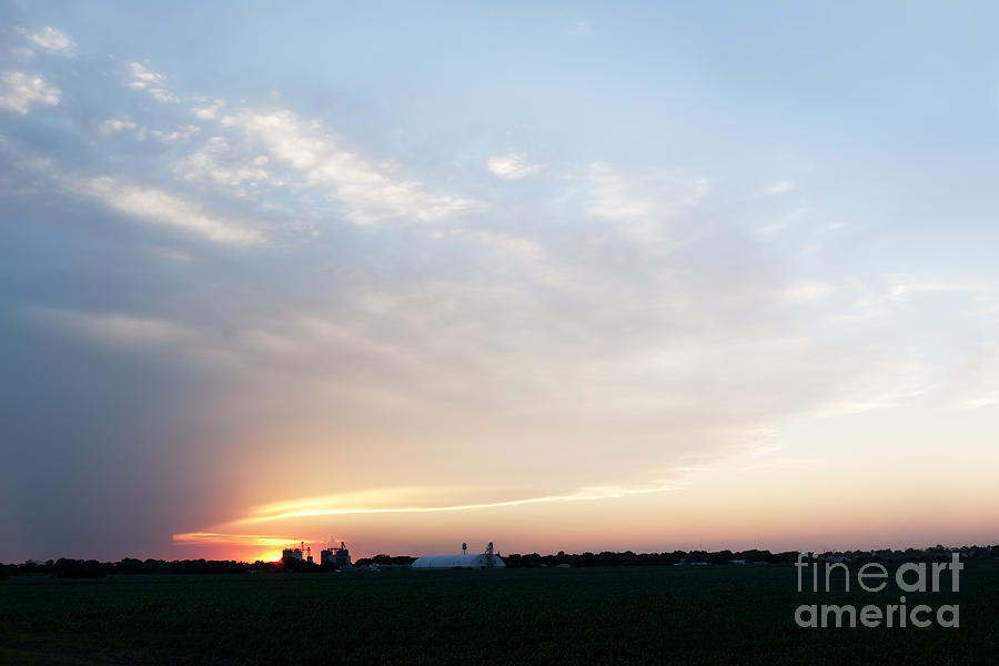 Prairie Sunset Photograph - Sunset Over Chester by Art Whitton