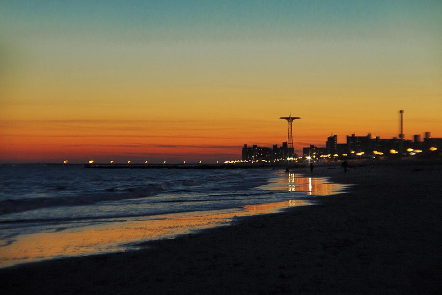 Sunset Over Coney Island Photograph By Alex AG