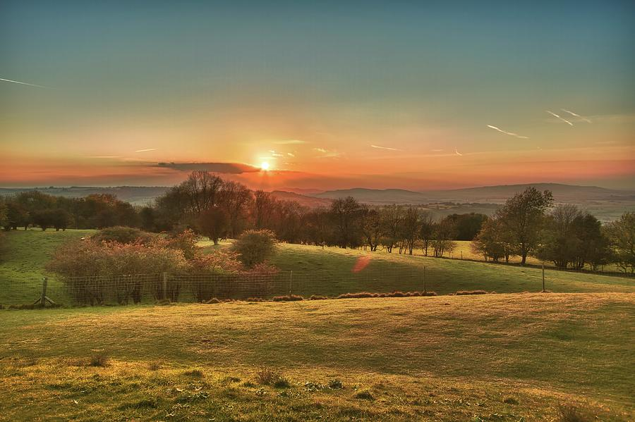 Horizontal Photograph - Sunset Over Countryside by Verity E. Milligan