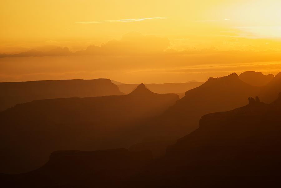 America Photograph - Sunset Over Grand Canyon by C Thomas Willard