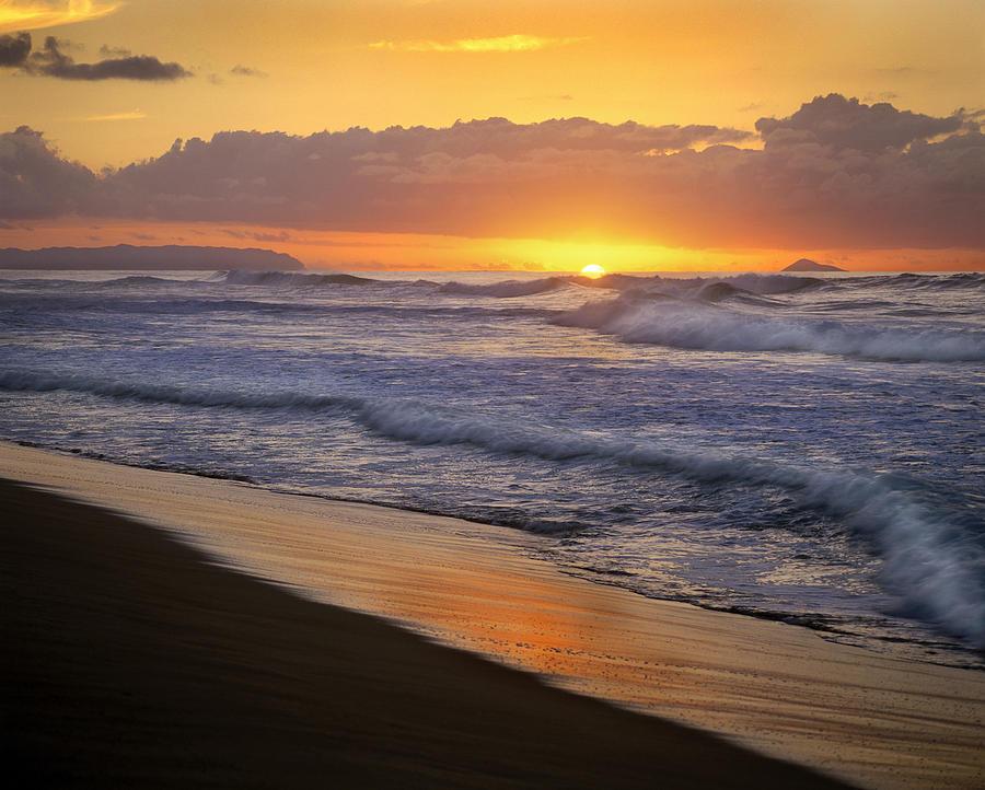 Sunset Over Polihale Beach, Kauai Photograph by Tim Fitzharris