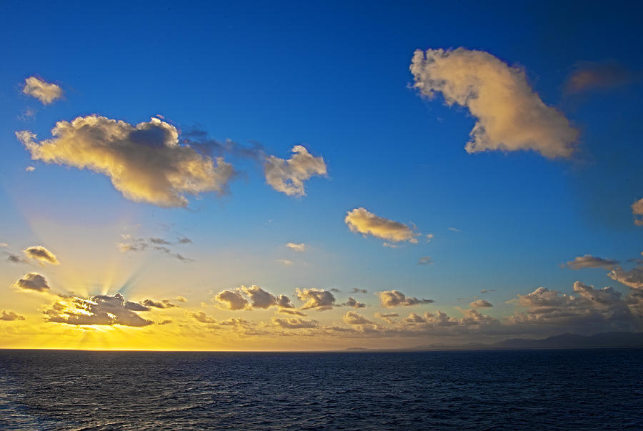 Sunset Photograph - Sunset Over The Caribbean Sea by Keith Allen