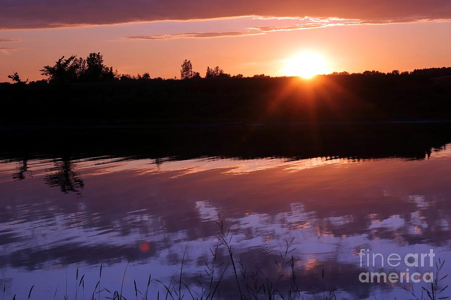 Sunset Photograph - Sunset Over The Island by Sophie Vigneault