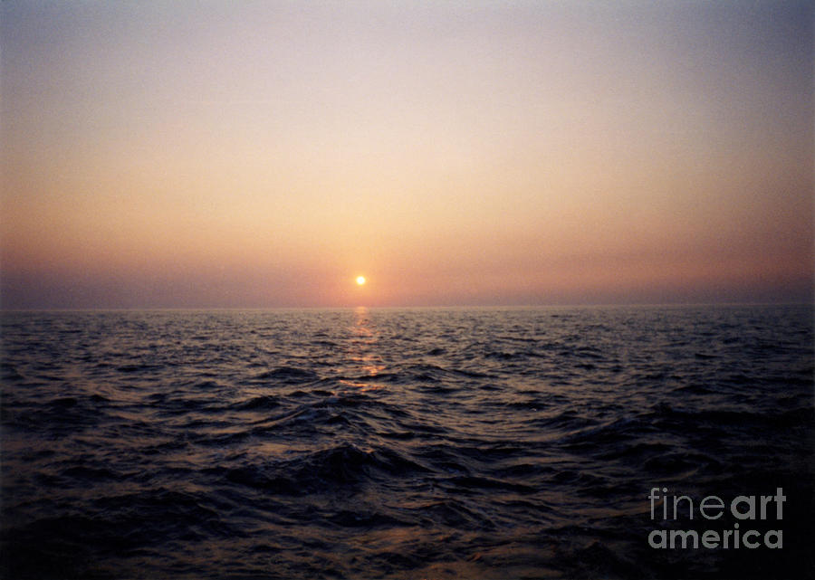 Boat Photograph - Sunset Over The Ocean by Thomas Luca