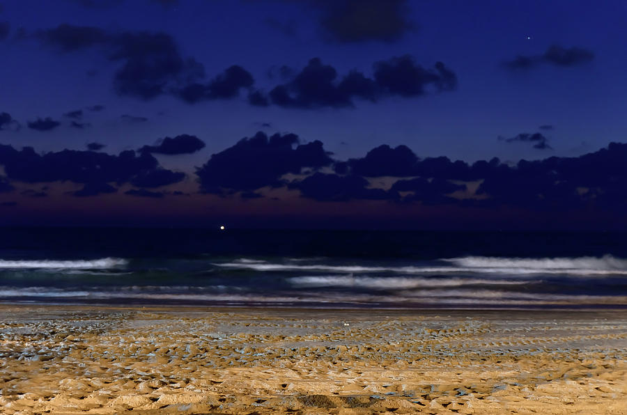 Clouds Photograph - Sunset over the sea by Michael Goyberg