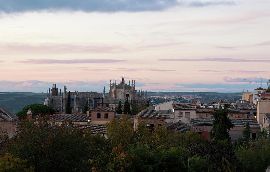 Toledo Photograph - Sunset Over Toledo by Lorraine Devon Wilke