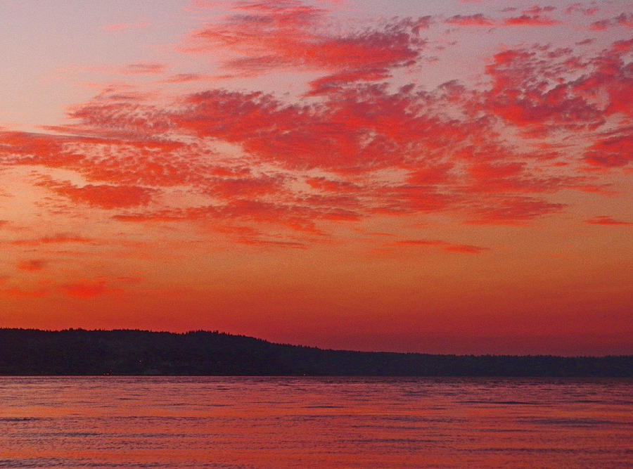 Washington State Photograph - Sunset Pastels by Seth Shotwell