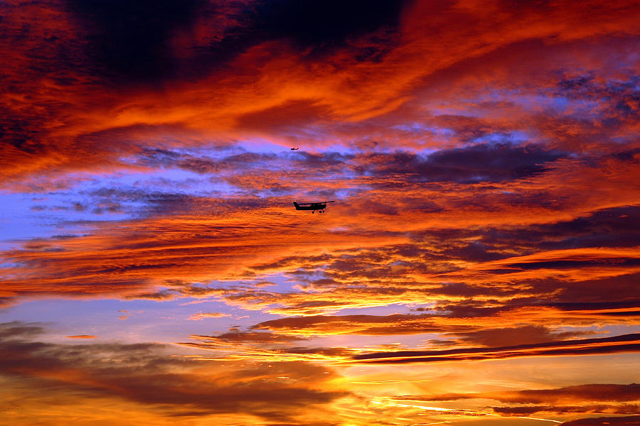 Aviation Photograph - Sunset Pattern by Dan Myers