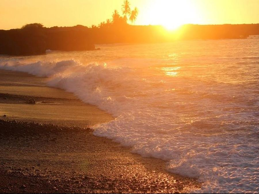 Beach Photograph - Sunset Rays by Nadi Leonard