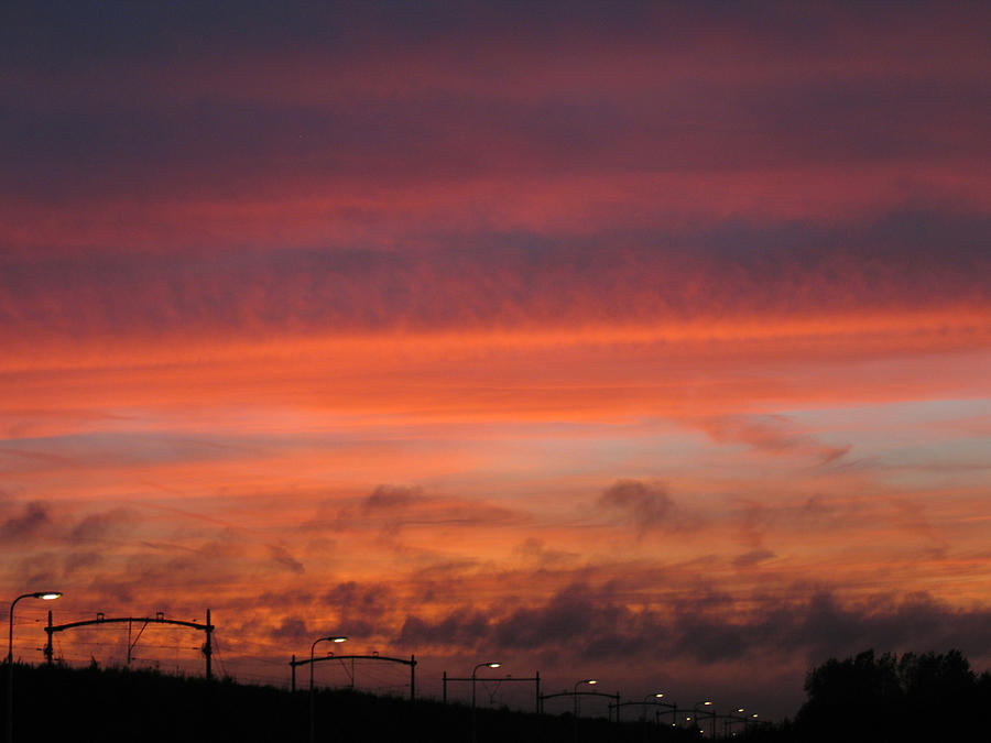 Sunset Photograph - Sunset Reeshof by Nop Briex