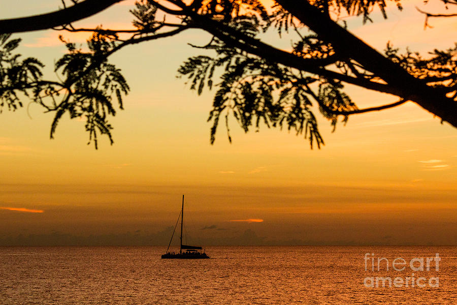 Sailing Photograph - Sunset Sail by Rene Triay Photography