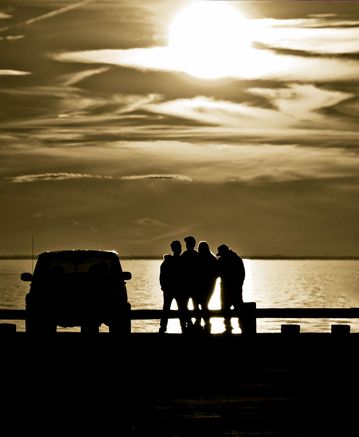 Silhouette Photograph - Sunset Silhouette by Vicki Jauron
