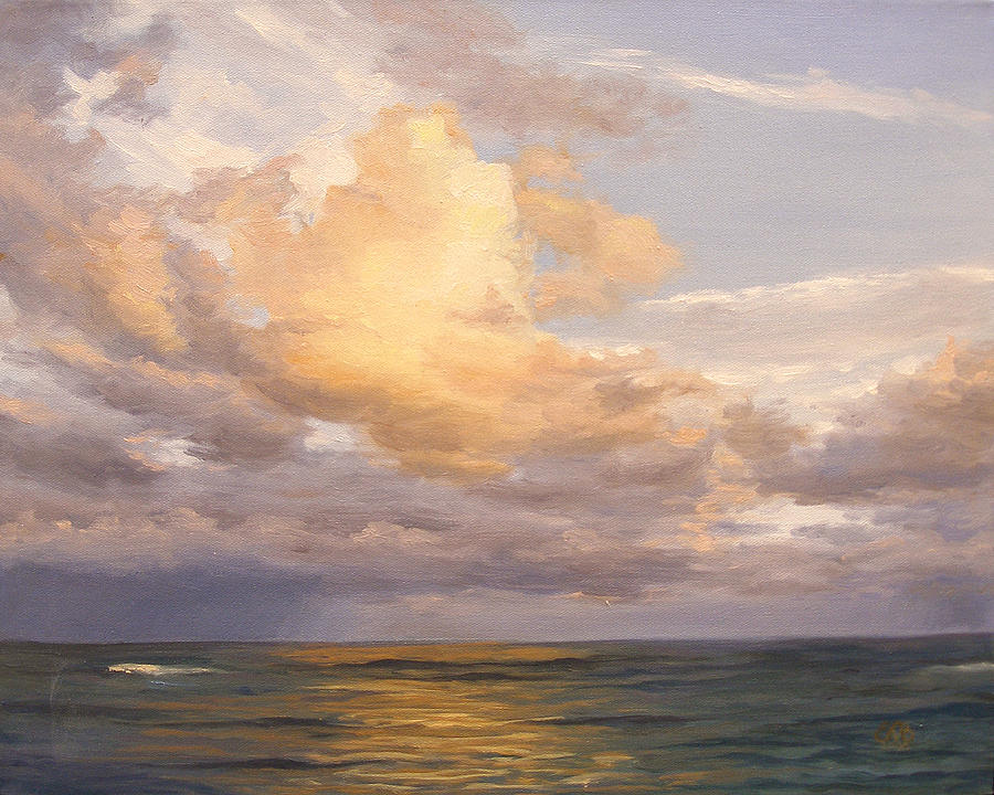 Sunset Sky Painting By Olena Lopatina