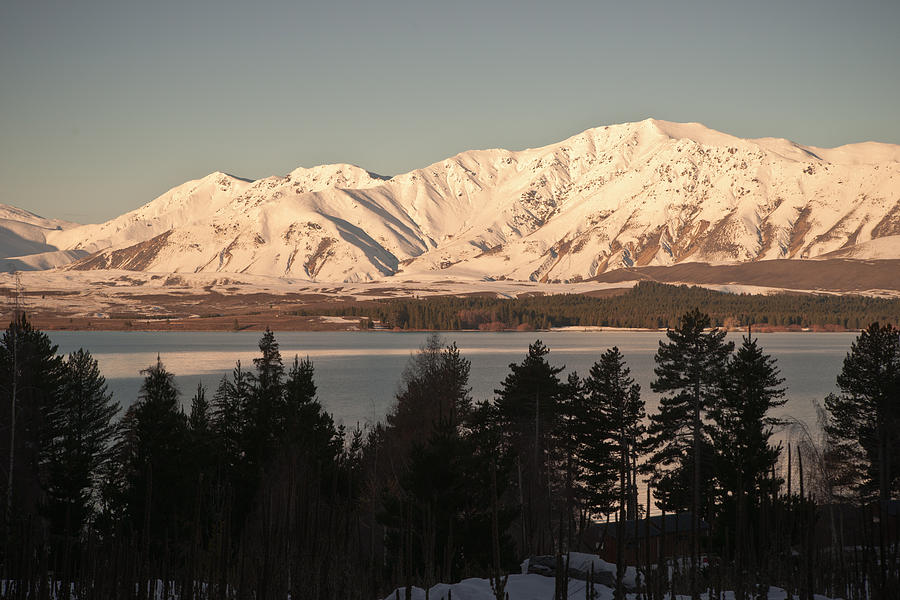 Lake Photograph - Sunset Snow by Graeme Knox