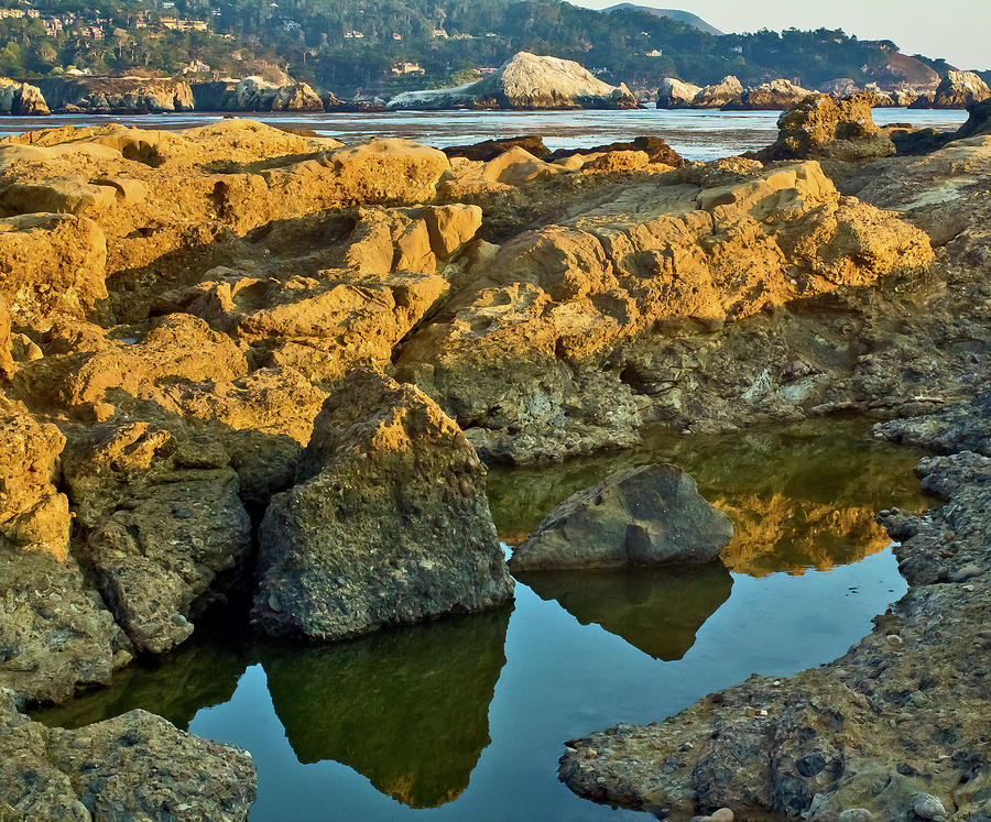 Sunset Tidepool Larry Darnell Point Lobos Central California Landscape Photograph by Larry Darnell