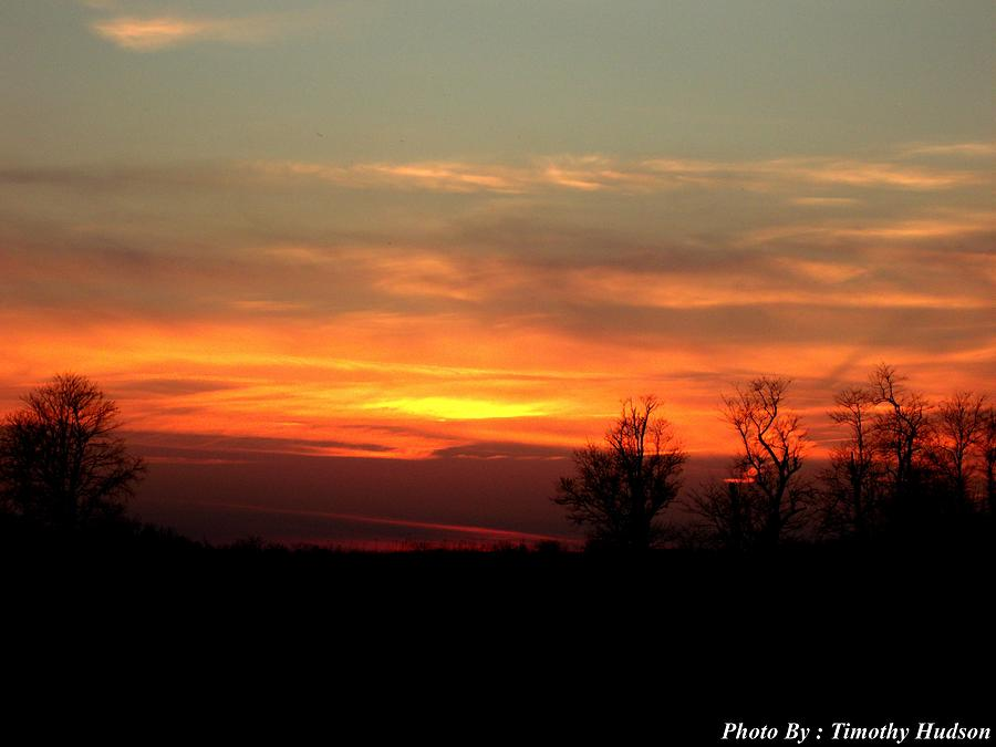 Sunset Photograph by Timothy Hudson