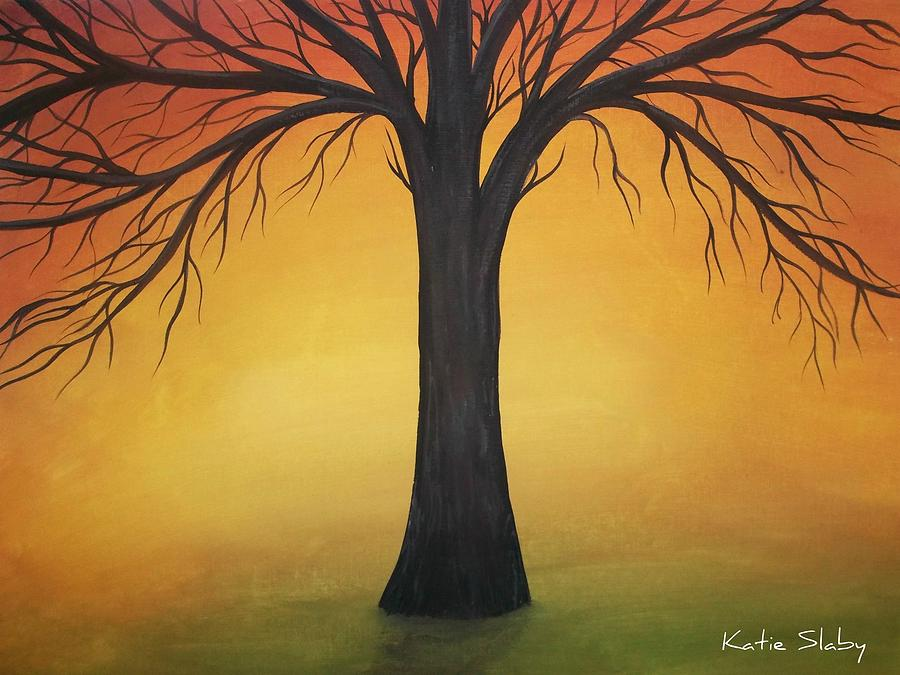 Sunset Tree Painting By Katie Slaby
