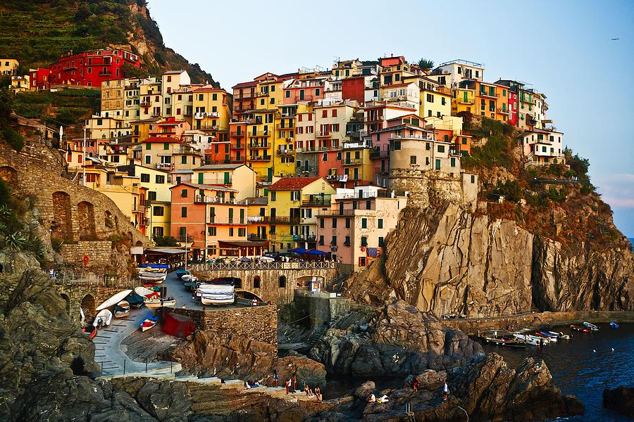 Sunset Photograph - Sunset Upon Manarola by  Samdobrow  Photography