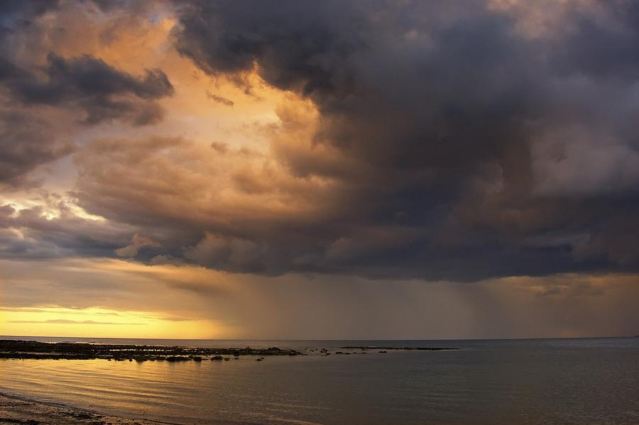 Sunset With A Stormy Sky, Sunderland Photograph by John Short