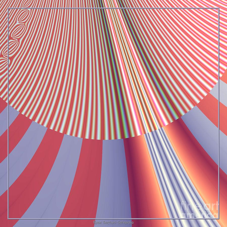 Sunshine Digital Art - Sunshine And Rain Fractal 132 by Rose Santuci-Sofranko
