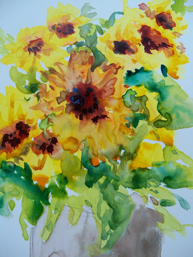 Fall Painting - Sunshine Bright by Sandy Collier