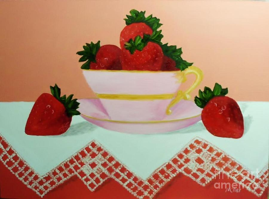 Teacup Painting - Sunshine In A Cup by Peggy Miller