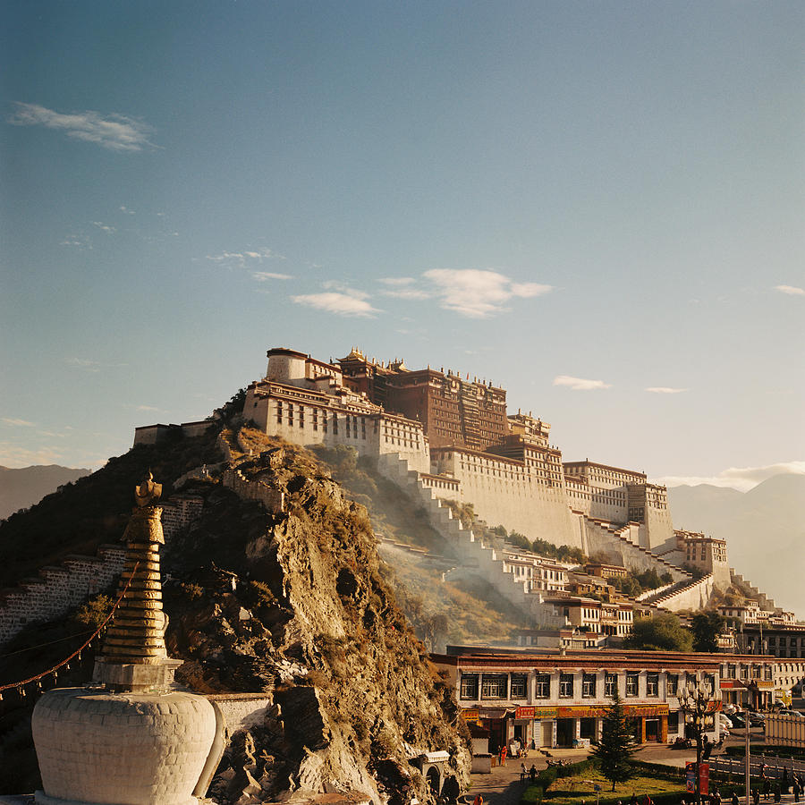 Square Photograph - Sunshine In Potala by Mona