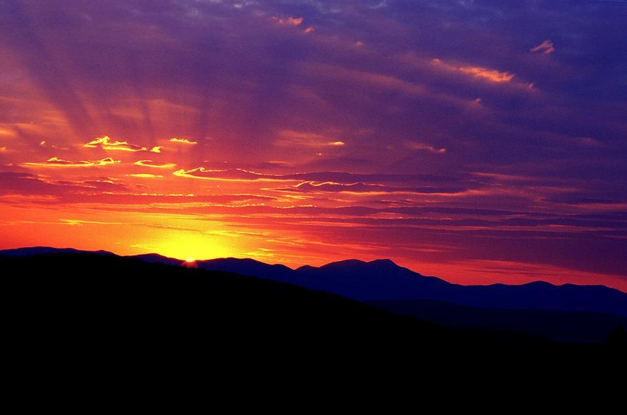Clouds Photograph - Sunshine Mountain Range by David Chapman
